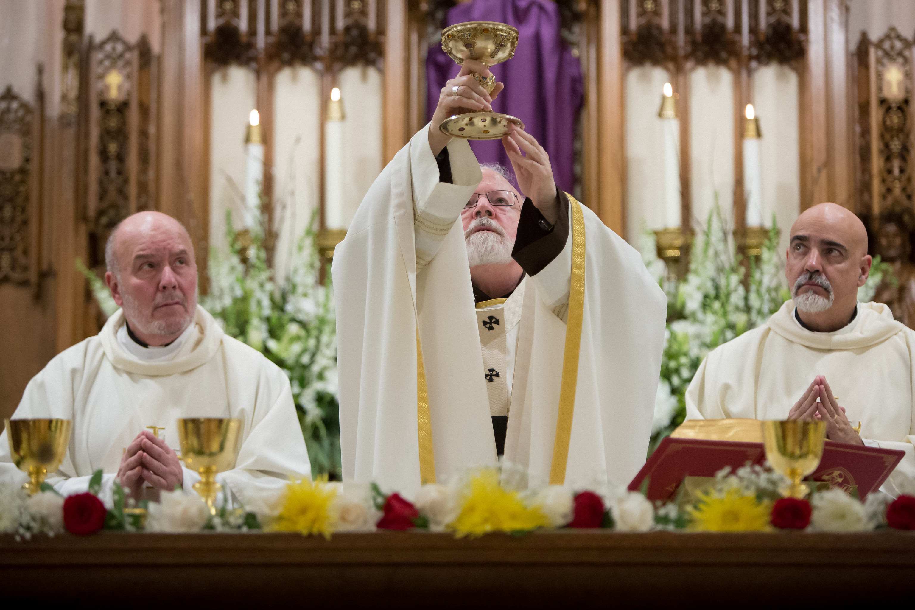 Cardinal Sean Celebrating Holy Thursday Mass