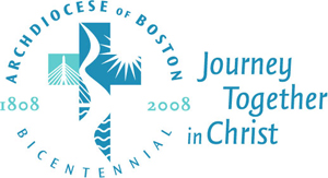 Archdiocese of Boston 1808 to 2008 Bicentennial Logo: Journey Together in Christ.